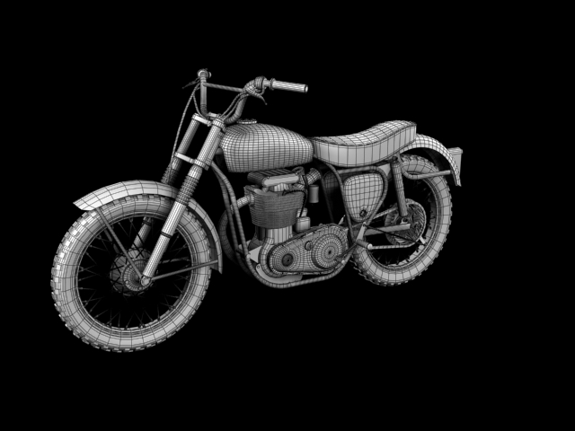 bsa b44 'pobjednik enduro' 1966 3d model 3ds max c4d obj 152035