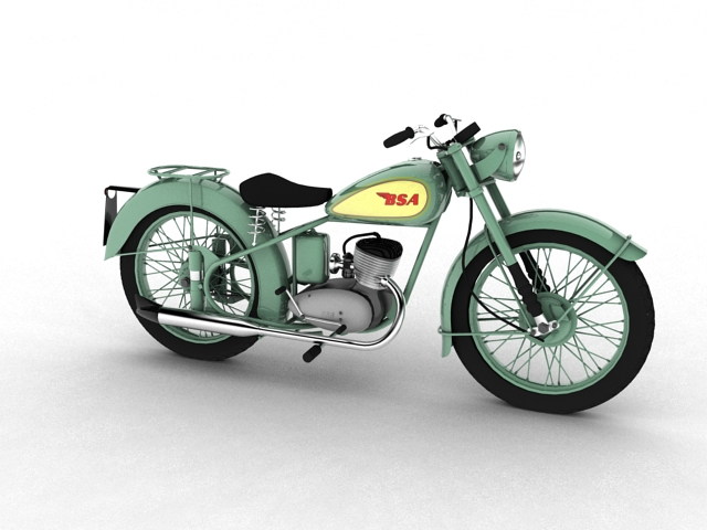 bsa bantam d1 1948 3d model 3ds maks c4d obj 152036