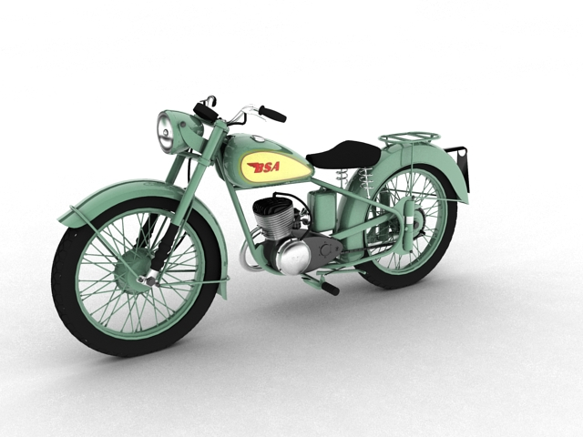 bsa bantam d1 1948 3d model 3ds max c4d obj 152037