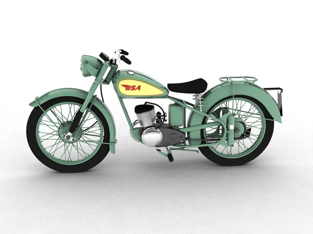 bsa bantam d1 1948 3d model 3ds max c4d obj 152038