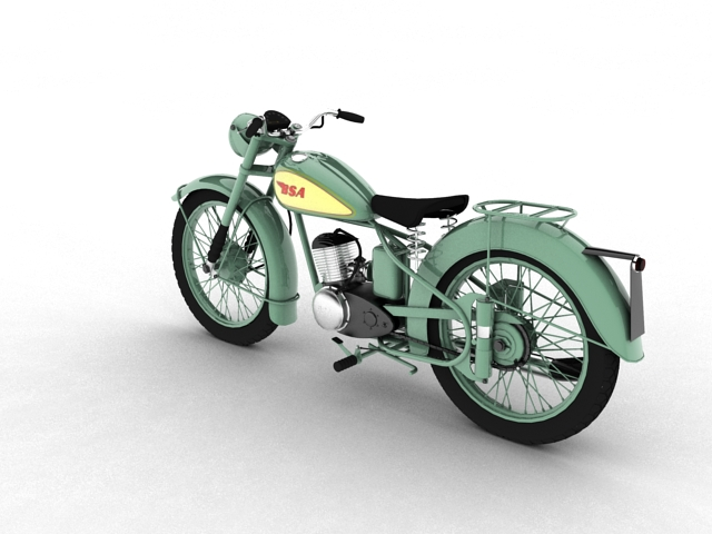 bsa bantam d1 1948 3d model 3ds max c4d obj 152039