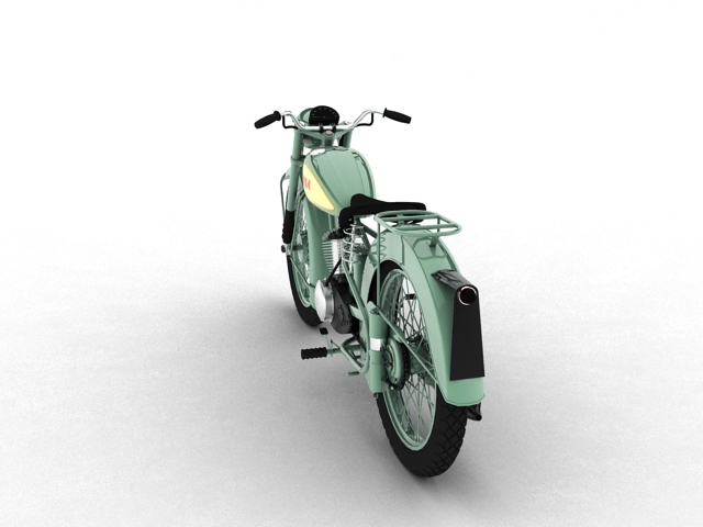 bsa bantam d1 1948 3d model 3ds max c4d obj 152040