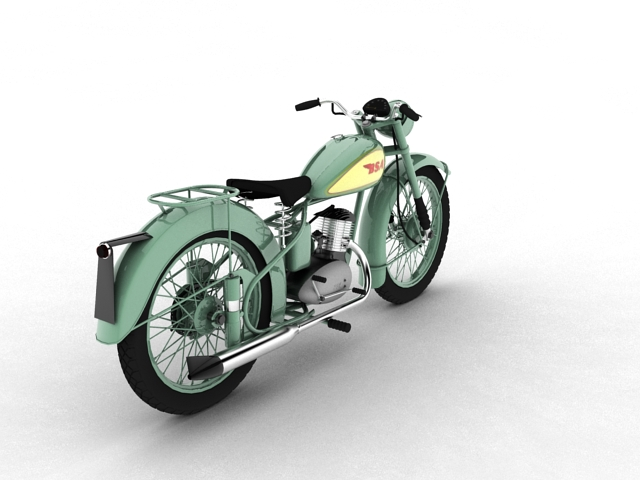 bsa bantam d1 1948 3d model 3ds max c4d obj 152041