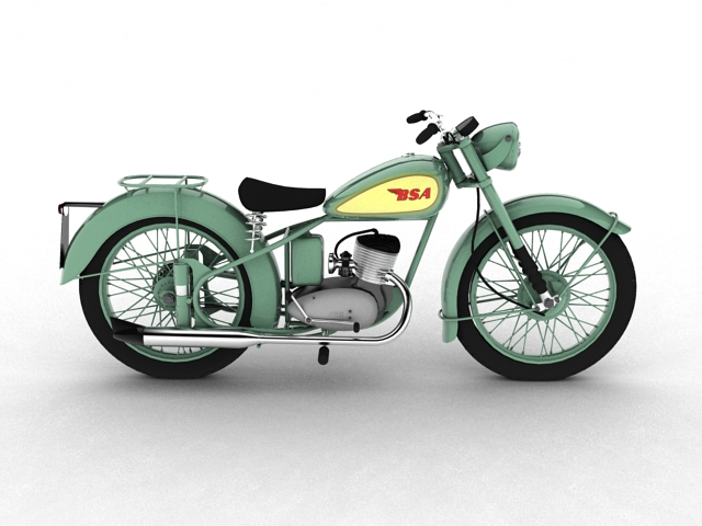 bsa bantam d1 1948 3d model 3ds max c4d obj 152042