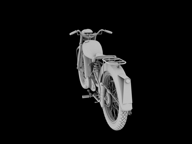 bsa bantam d1 1948 3d model 3ds max c4d obj 152043