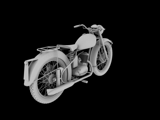 bsa bantam d1 1948 3d model 3ds max c4d obj 152044
