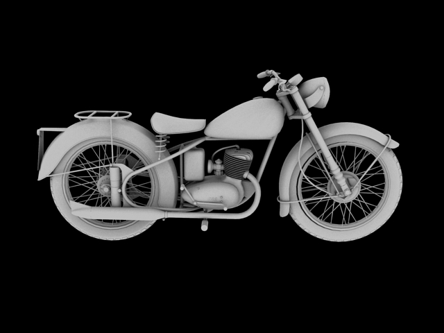 bsa bantam d1 1948 3d model 3ds max c4d obj 152045