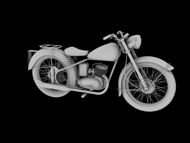 bsa bantam d1 1948 3d model 3ds max c4d obj 152046