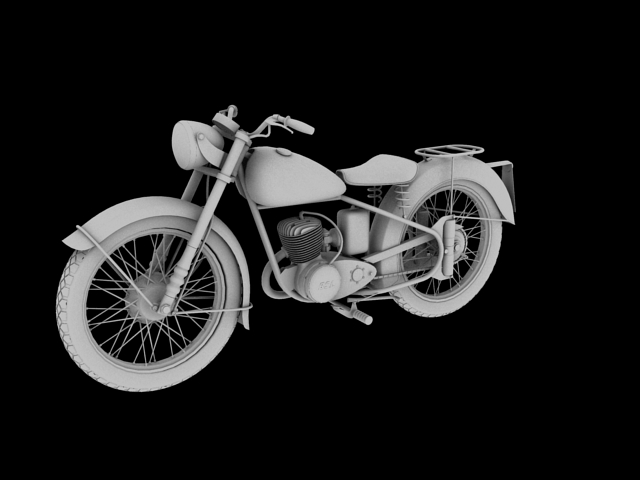 bsa bantam d1 1948 3d model 3ds max c4d obj 152047