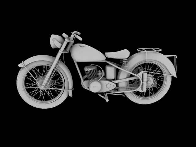 bsa bantam d1 1948 3d model 3ds max c4d obj 152048