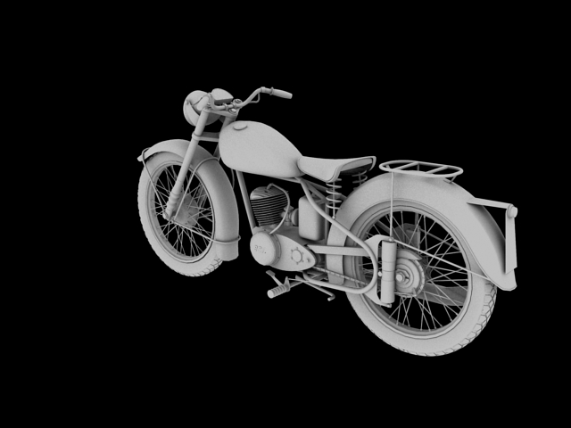 bsa bantam d1 1948 3d model 3ds max c4d obj 152049