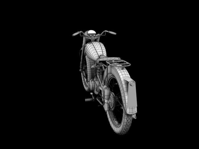 bsa bantam d1 1948 3d model 3ds max c4d obj 152051