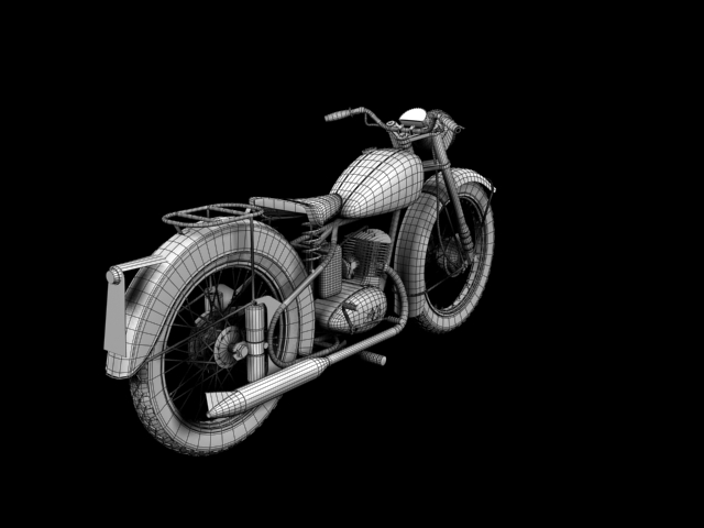 bsa bantam d1 1948 3d model 3ds max c4d obj 152052