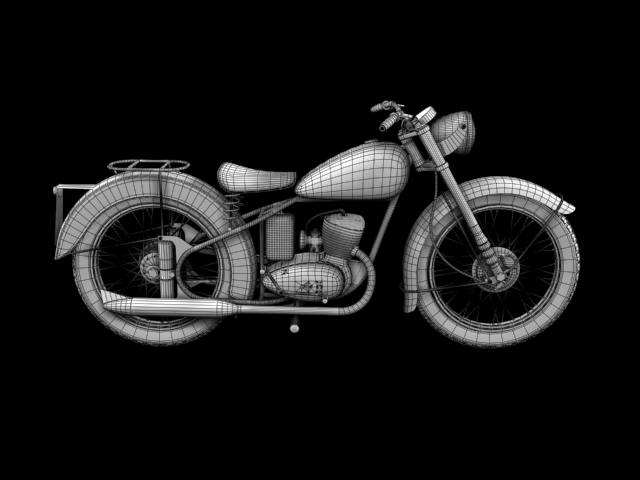 bsa bantam d1 1948 3d model 3ds max c4d obj 152053