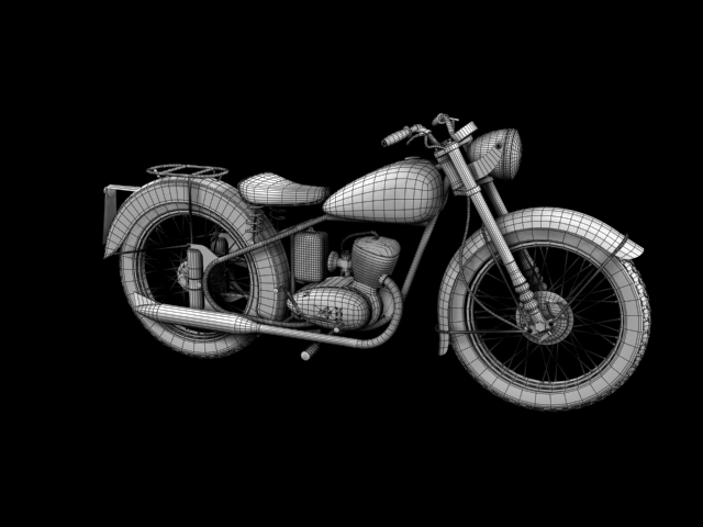 bsa bantam d1 1948 3d model 3ds max c4d obj 152054