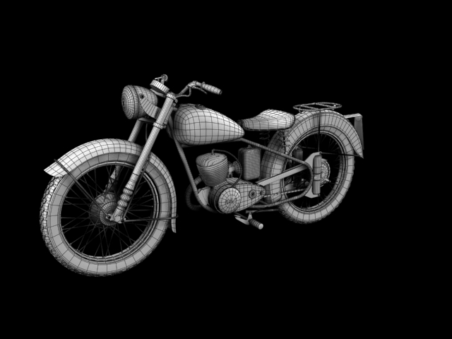 bsa bantam d1 1948 3d model 3ds max c4d obj 152055