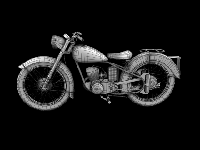 bsa bantam d1 1948 3d model 3ds max c4d obj 152056
