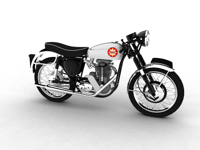 bsa gold star 1960 3d model 3ds max c4d obj 151680