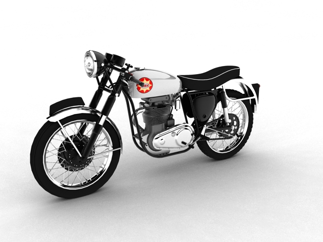 bsa gold star 1960 3d model 3ds max c4d obj 151681