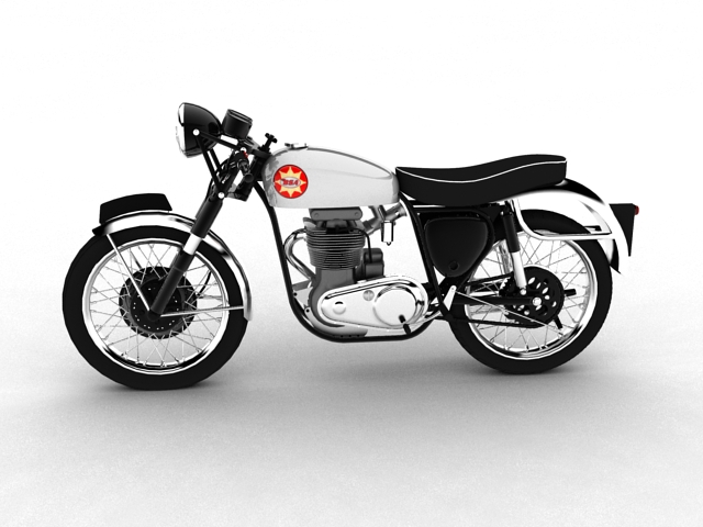bsa gold star 1960 3d model 3ds max c4d obj 151682