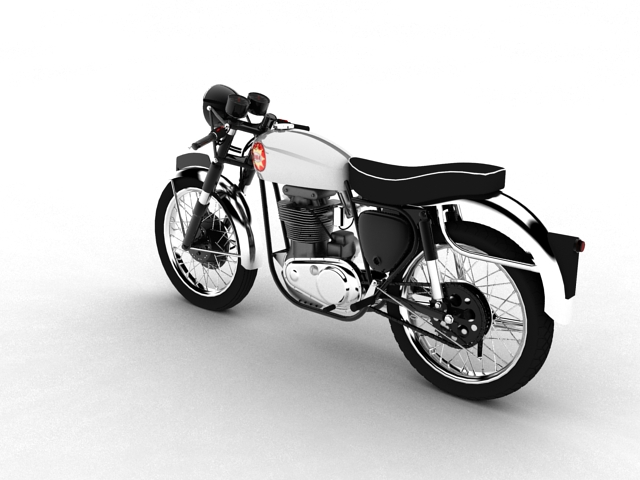 bsa gold star 1960 3d model 3ds max c4d obj 151683
