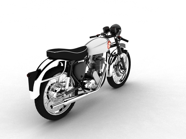 bsa gold star 1960 3d model 3ds max c4d obj 151685