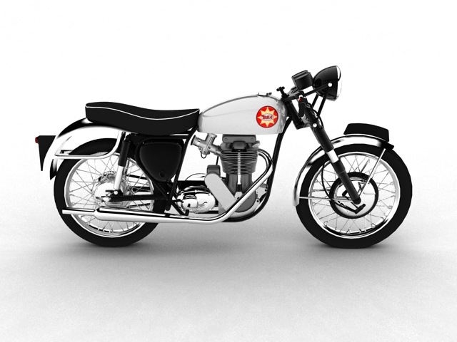 bsa gold star 1960 3d model 3ds max c4d obj 151686