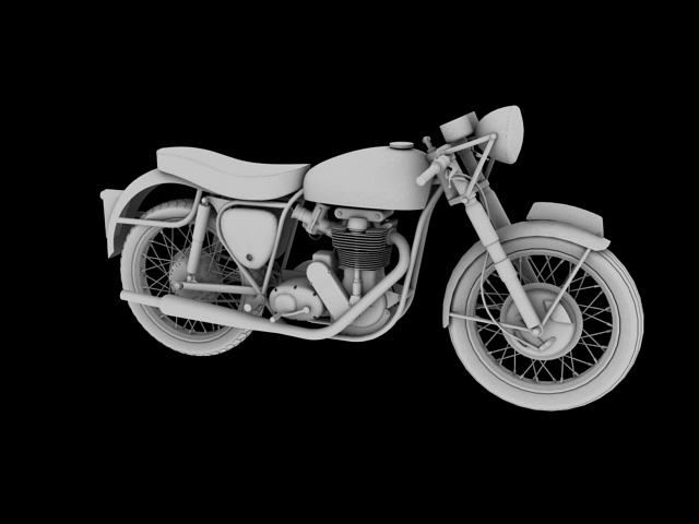 bsa gold star 1960 3d model 3ds max c4d obj 151687
