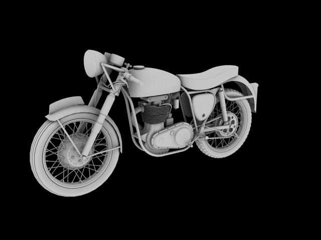 bsa gold star 1960 3d model 3ds max c4d obj 151688