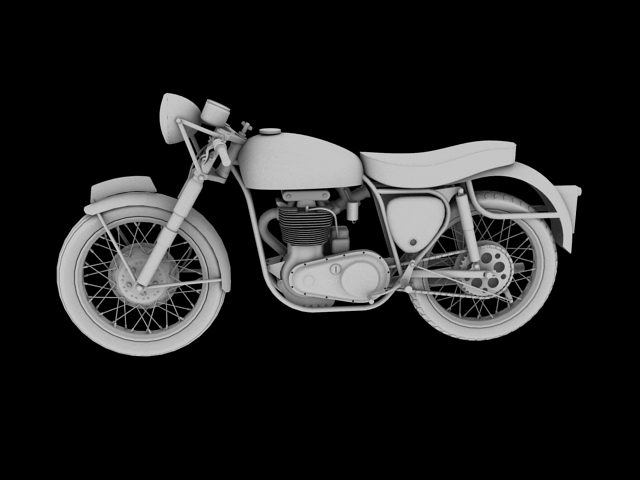 bsa gold star 1960 3d model 3ds max c4d obj 151689