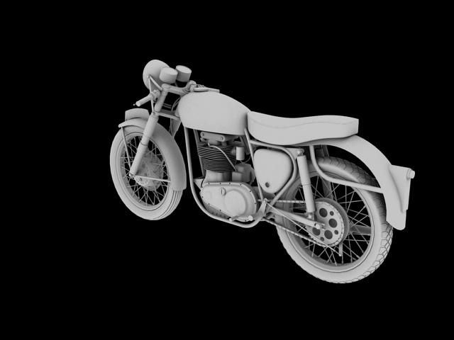 bsa gold star 1960 3d model 3ds max c4d obj 151690