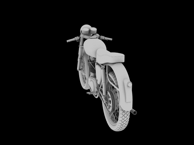 bsa gold star 1960 3d model 3ds max c4d obj 151691