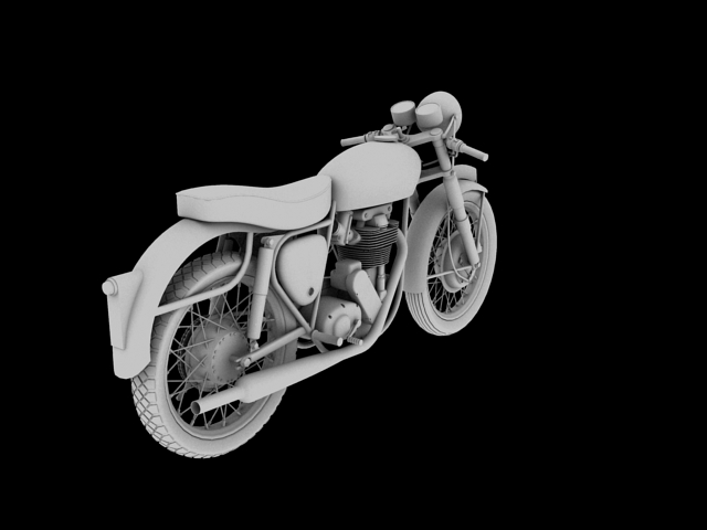 bsa gold star 1960 3d model 3ds max c4d obj 151692