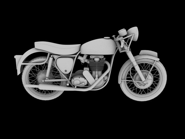 bsa gold star 1960 3d model 3ds max c4d obj 151693