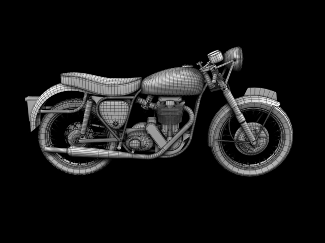 bsa gold star 1960 3d model 3ds max c4d obj 151694