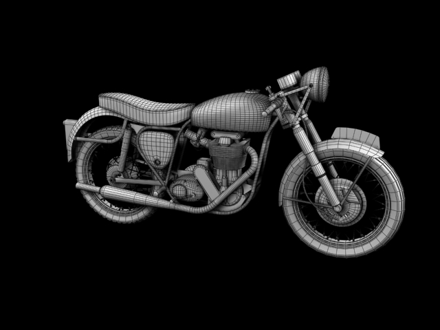 bsa gold star 1960 3d model 3ds max c4d obj 151695