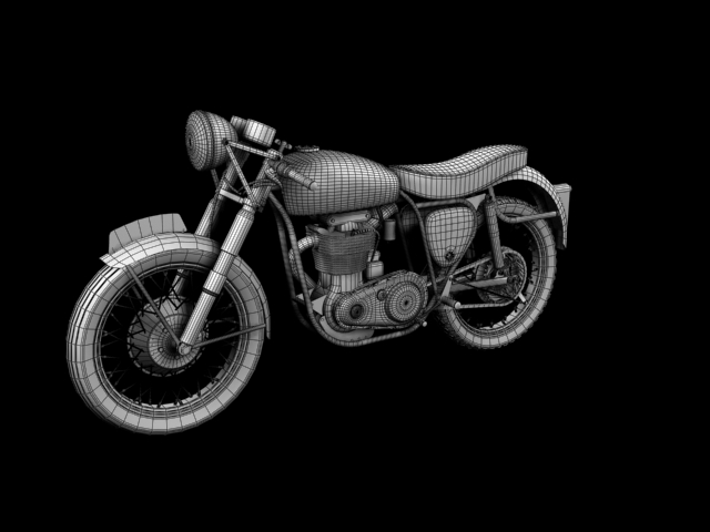 bsa gold star 1960 3d model 3ds max c4d obj 151696