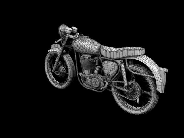 bsa gold star 1960 3d model 3ds max c4d obj 151698