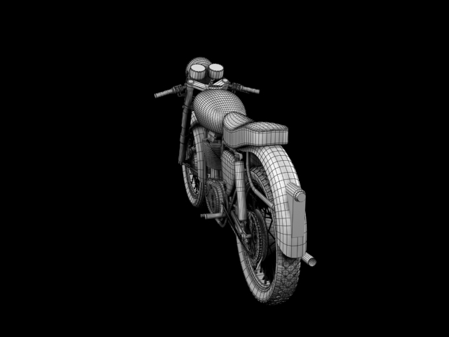 bsa gold star 1960 3d model 3ds max c4d obj 151699