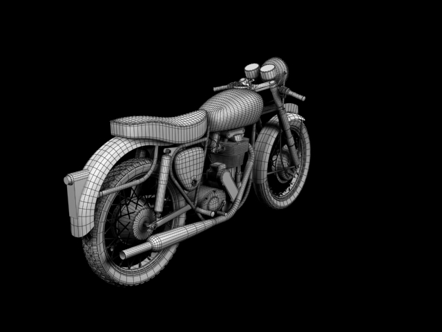 bsa gold star 1960 3d model 3ds max c4d obj 151700