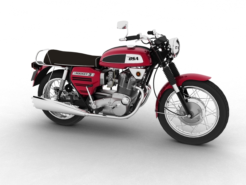bsa rocket 3 1969 3d model 3ds max dxf fbx c4d obj 155860