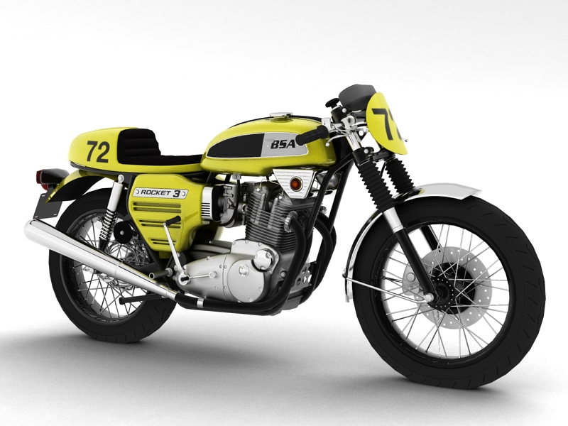 bsa roced 3 racer 1969 model 3d 3ds max dxf fbx c4d obj 164408
