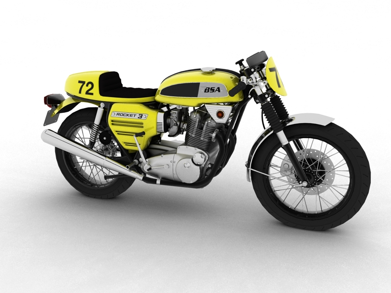 bsa rocket 3 racer 1969 3d model 3ds max dxf fbx c4d obj 164409