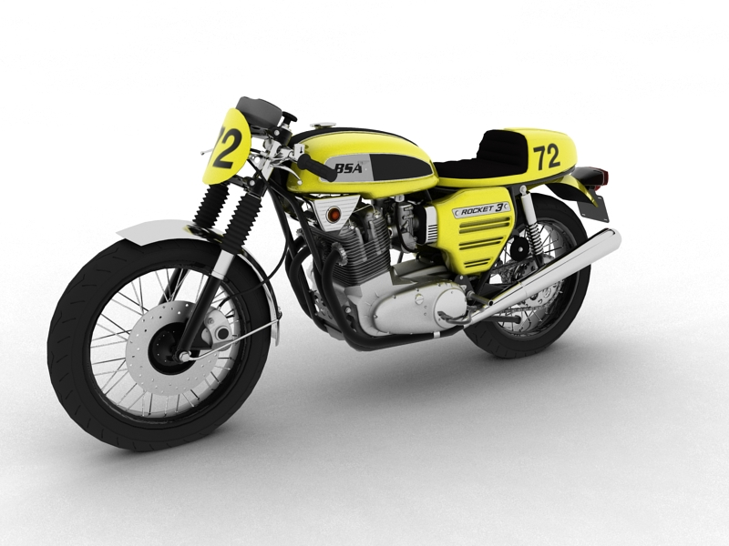 bsa rocket 3 racer 1969 3d model 3ds max dxf fbx c4d obj 164410