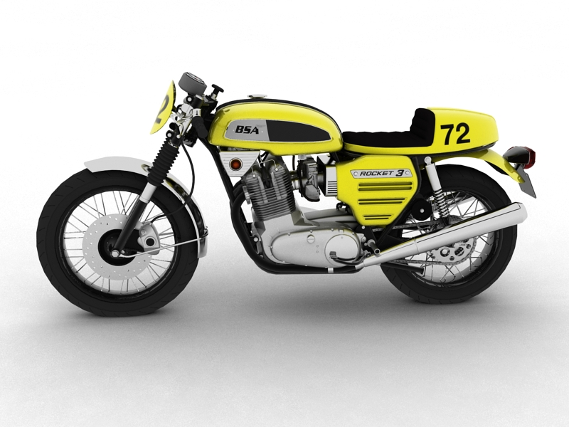 bsa rocket 3 racer 1969 3d model 3ds max dxf fbx c4d obj 164411