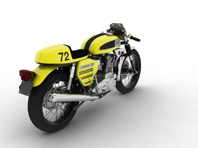 bsa rocket 3 racer 1969 3d model 3ds max dxf fbx c4d obj 164414
