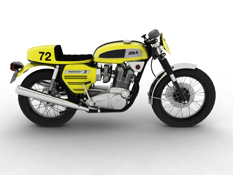 bsa rocket 3 racer 1969 3d model 3ds max dxf fbx c4d obj 164415