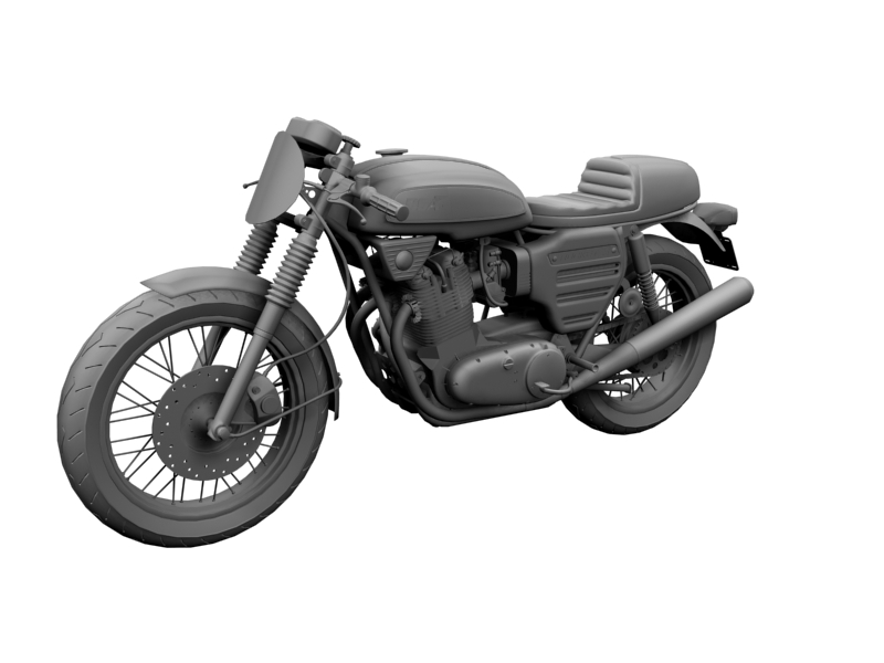 bsa rocket 3 racer 1969 3d model 3ds max dxf fbx c4d obj 164417