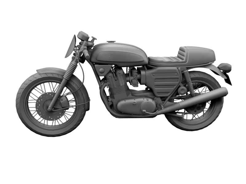 bsa rocket 3 racer 1969 3d model 3ds max dxf fbx c4d obj 164418