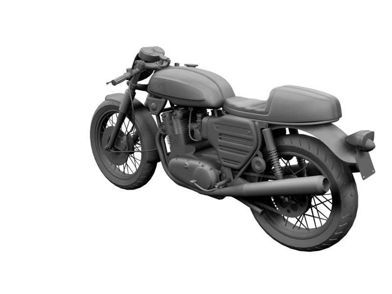 bsa rocket 3 racer 1969 3d model 3ds max dxf fbx c4d obj 164419